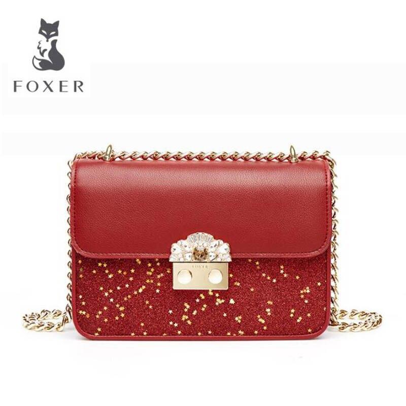 Luxe Bandoulière 2019 En À Main Cuir rose Petit Nouvelles Designer Mode Épaule De Foxer Et Sac Black Sacs red Gold Femmes Chaîne TdxzICwq