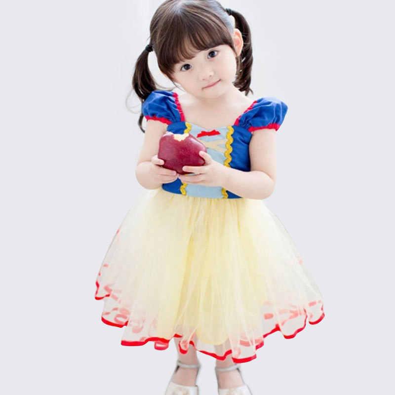 Детские платья для девочек Белоснежка для костюмированной вечеринки, платье принцессы Детский Рождественский костюм милое фатиновое платье-пачка для малышей От 1 до 5 лет