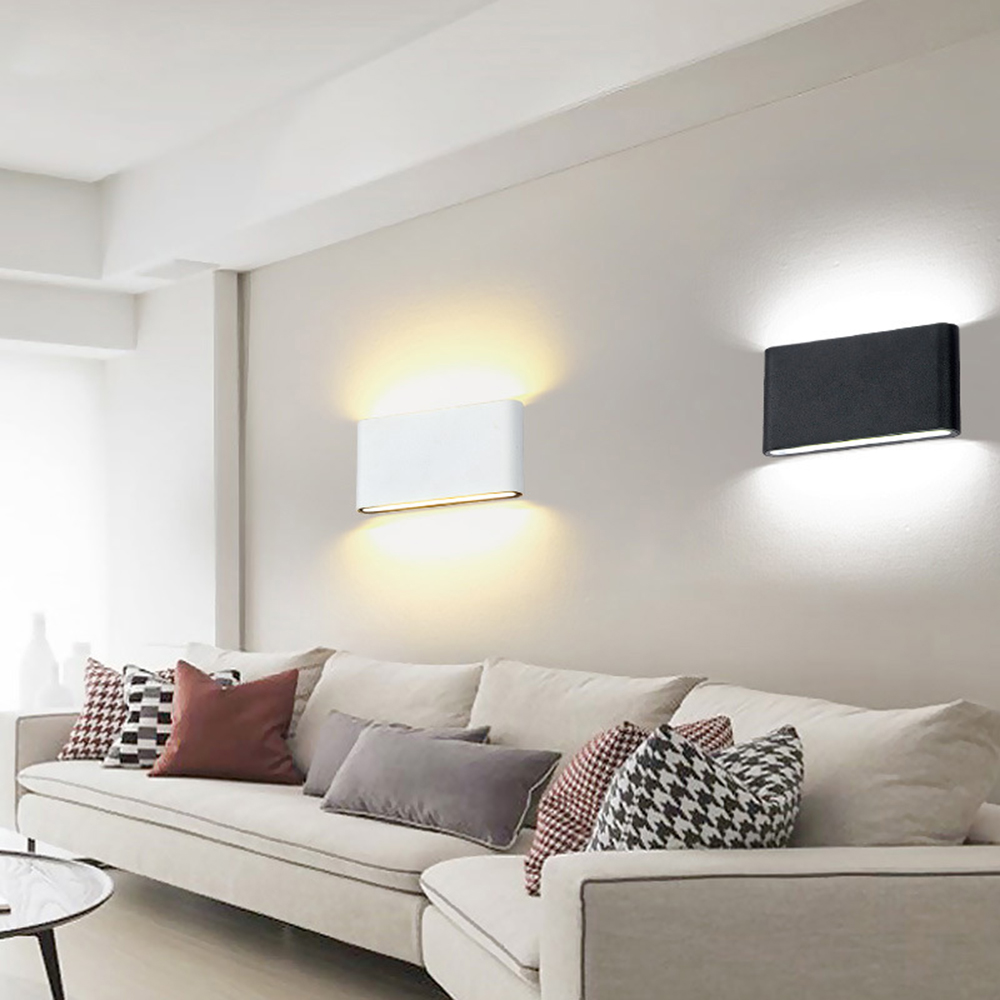 Light Filled Contemporary Living Rooms: COB LED Wall Lights Lamps 6W 12W Modern Sconces Waterproof