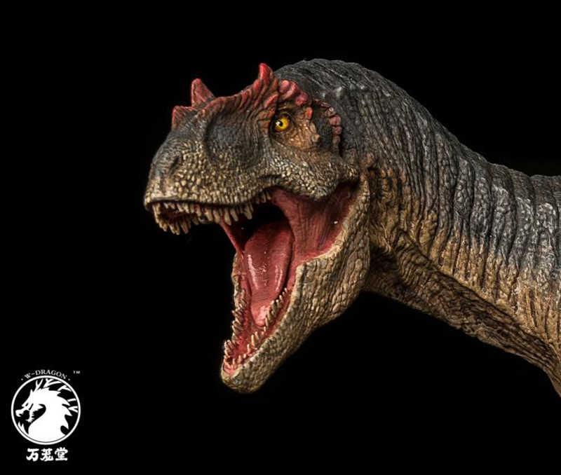 Colecionável antigo bereserker rex i-rex 1/35 escala pvc o vale de gwangi allosaurus dinossauro figura criança modelo brinquedos com caixa