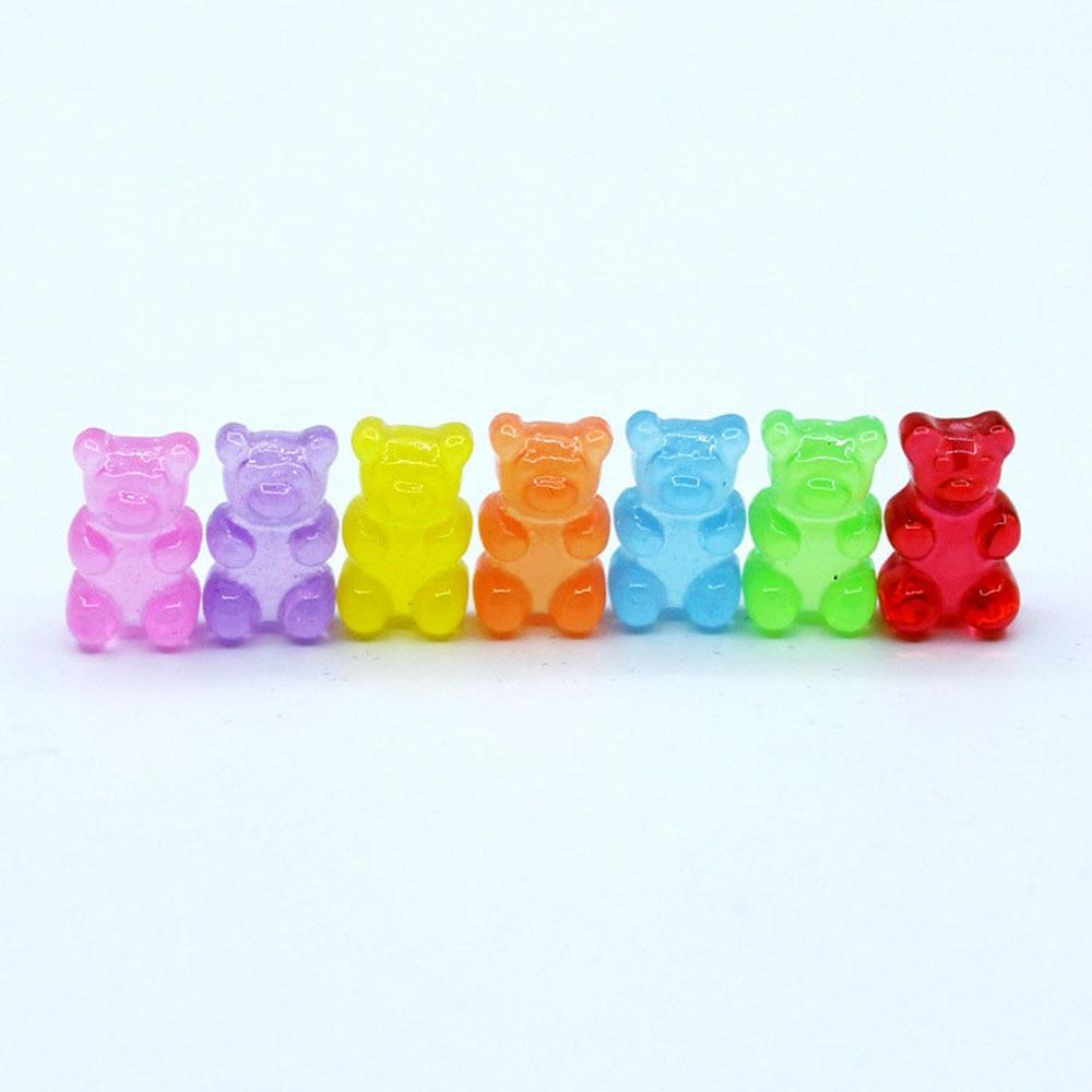 50 шт./лот 10×17 мм Смола питания моделирования милый медвежонок Конфеты Flatback смолы кабошоны для украшения телефона diy ювелирные изделия