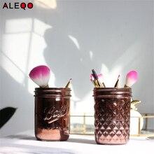 Vogue Chic розовое золото банка для хранения превосходное минималистский элегантной роскоши для соли сахара перца щетку для хранения Главная Организатор