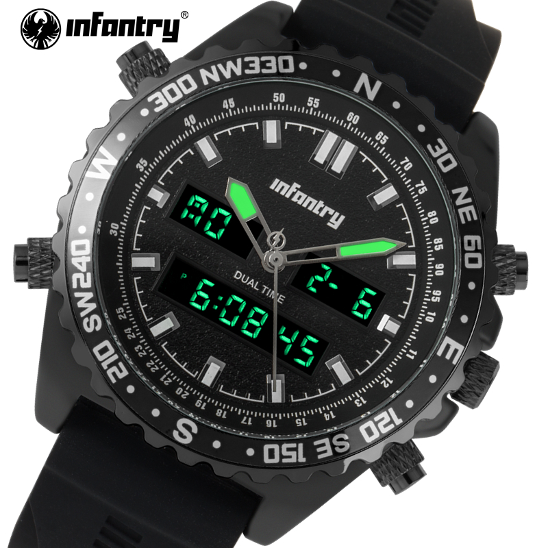 2018 Top Luxury Brand  Men Military Sports INFANTRY Watches Men's Quartz Wristwatch Waterproof Clock Watch Relogio Masculino weide watches men luxury brand multiple time zone compass military sports watch men quartz wristwatch clock relogio masculino