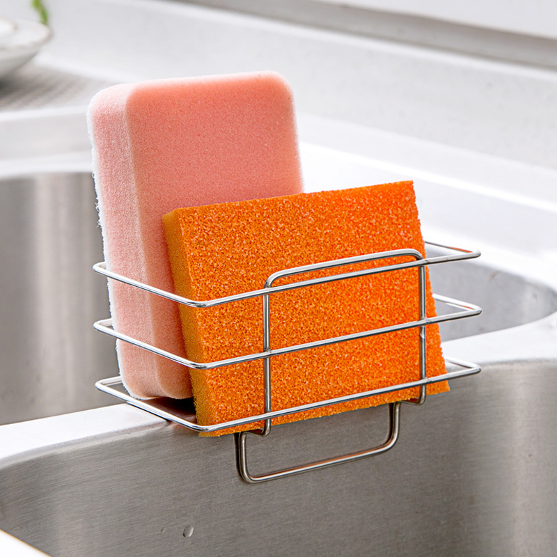 MAIKAMI New Arrival Stainless Steel Sink Draining Brush Sponge Cleaning  Cloth Towel Rack Washing Holder Kitchen Tidy Stand In Underwear From Mother  U0026 Kids ...
