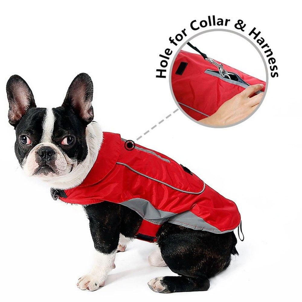 Одежда для питомцев, собачий плащ для кошек, водонепроницаемый светоотражающий ремень, красный плащ для щенка, дождевик для собак, одежда для больших собак, ropa para perro, Прямая поставка