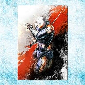 """Metal Gear Solid V фантомная боль Искусство Шелковый Холст печати плакатов 13x20 24x36 дюймов одноцветное Игра """"Змейка стены картину (больше) -4"""