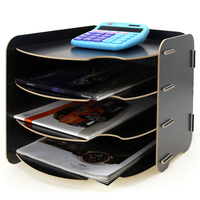 A4 Multideck Simple Storage Rack Office Table Files Sundries Organizer Shelf Home Storage Organization