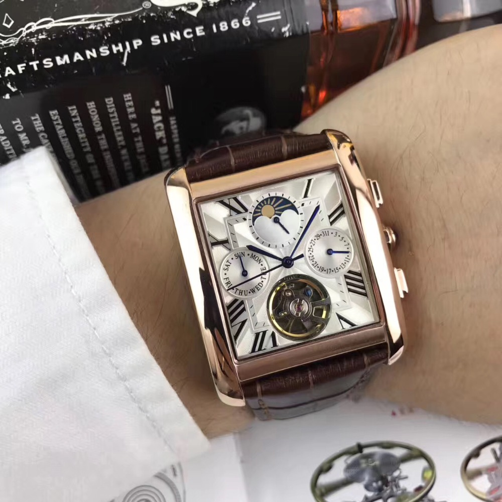 Mens Watches Top Brand Runway Luxury European Design Automatic Mechanical Watch S0706