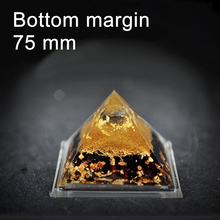75mm 3″ Orgone Pyramid Natural Quartz Crystal Art Craft Orgonite Positive Energy Generator Accumulator spiritual science