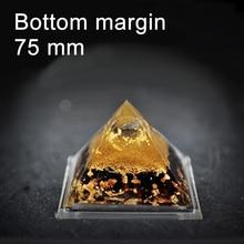 75mm 3″ Orgone Pyramid Natural Quartz Crystal Art Craft Orgonite Positive Energy Generator Accumulator spiritual science
