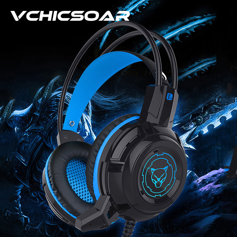 Gaming Headset Deep Bass Stereo Game Headphone Computer Earphones with Mic LED Light Headphones for PC 3.5mm USB Gaming Headset  plextone pc780 led light gaming headphone usb game headset pc headphone with mic for computer subwoofer stereo wired earphone