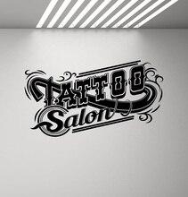 Autocollant mural pour tatouage, autocollant mural en vinyle pour salon de tatouage, logo de magasin, décoration pour porte et fenêtre, art mural, 2WS05