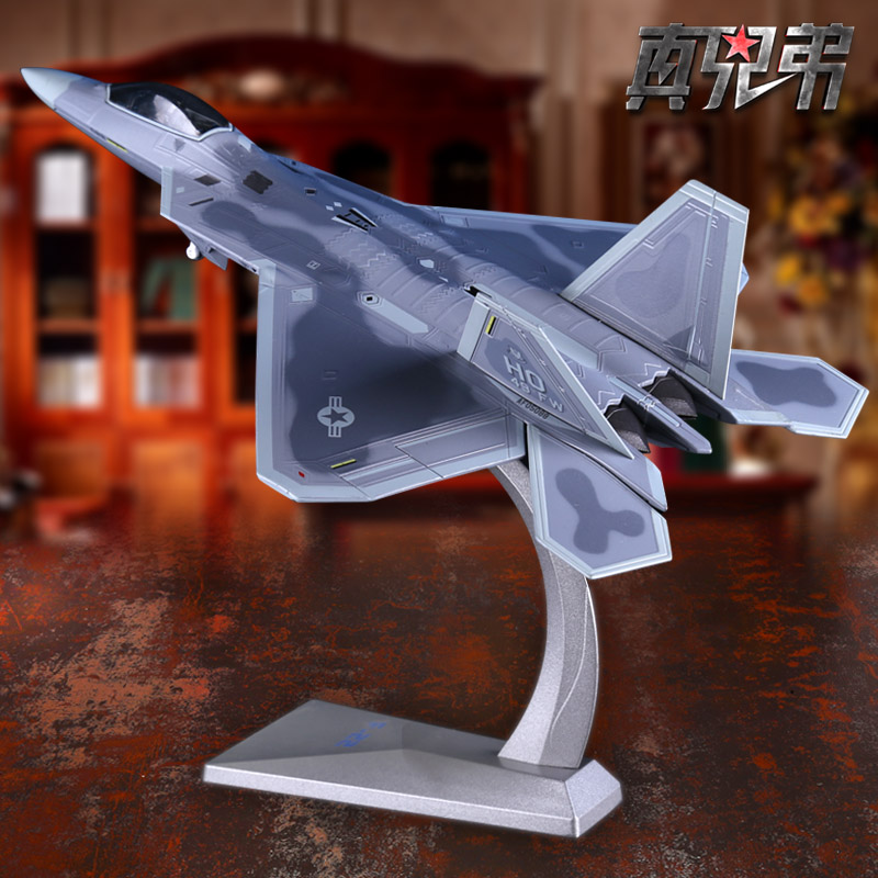 1:72 U.S. F-22 Raptor Fighter Alloy Aircraft Model Simulation of Military Decoration цена