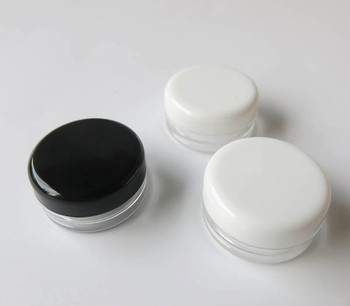 wholesale Promotion 500 pcs 3G Plastic Cream Jars, empty 3 g plastic cosmetic jars, 3ml sample cosmetic bottles container