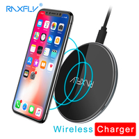 RAXFLY Qi Wireless Charger 10W Wireless Charger Pad For IPhone X 8 Luxury Wireless Charging Dock