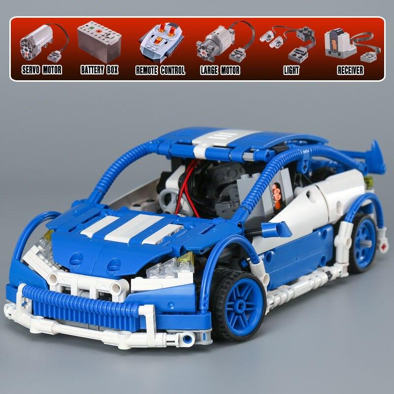 640pcs Blocks Toy Lepine 20053 Technic Hatchback Type Remote Control RC Car MOC-6604 Model Building Brick Toy for Boy Black/Blue original feeding motor 6701409040 for roland re 640 ra 640 vs 640
