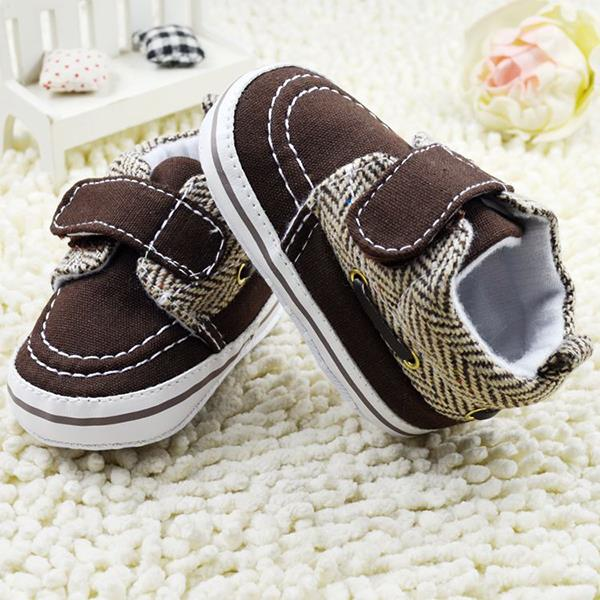Newborn Toddler Baby Boy Girl Soft Sole Cotton Crib Shoes Prewalker Coffee Color 0-18M