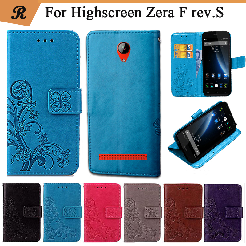 Newest For Highscreen Zera F Rev.S Factory Price Luxury Cool Printed Flower 100% Special PU Leather Flip Case With Strap