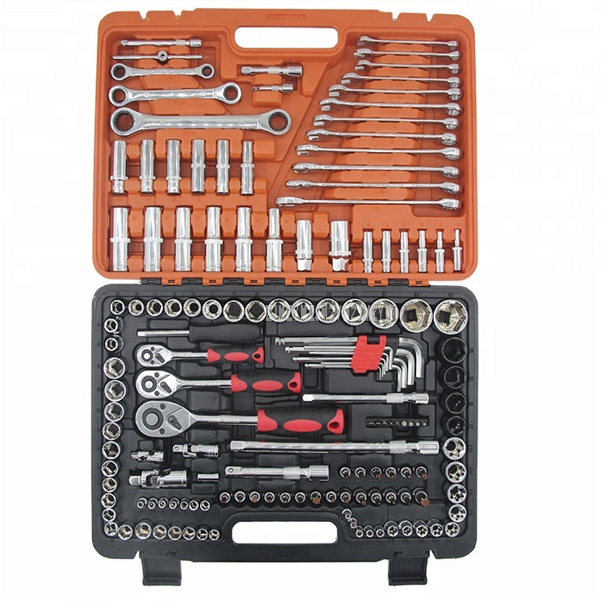 1Set/150pcs Professional Mechanics Repair Tool Set Hand Tools for Car Tire Spanner Wrench Socket Bicycle Repair Tool Kits ZG150 150pcs socket set 1 4