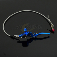 Motorcycle 1200MM Hydraulic Foldable Clutch Levers Master Slave Cylinder For Dirt Bike 125cc 140cc 250cc Vertical