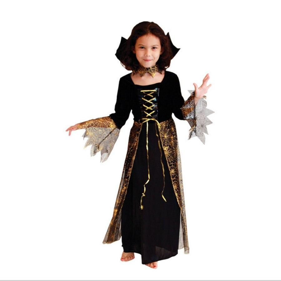 Aliexpress.com : Buy Costume Halloween Kids Witch Dress M L XL ...