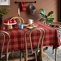 Handmade scotland Plaid wedding table cloth rectengular acrylic wool dining table cover christmas round tablecloth