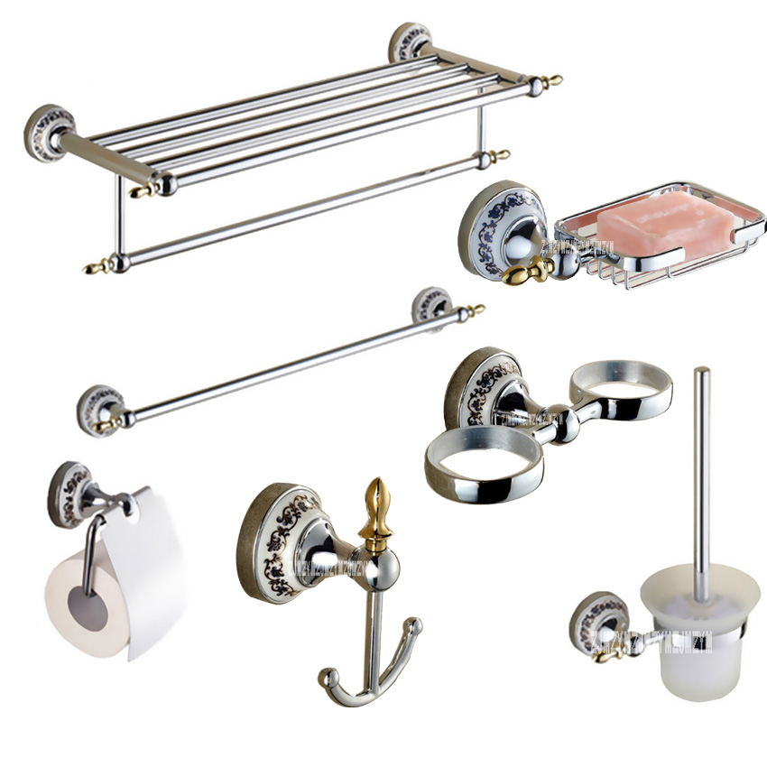 Accessories Bathroom Set,Towel Rack ,Single Towel Rack,Toilet Paper Tray,Toilet Brush Holder,Soap Stand,Brush Cup Holde,Hooks 2pcs lot 1 4 bsp male full ports connection air brass thread pipe ball valve