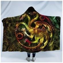 Plstar Cosmos Game of Thrones Blanket  Hooded 3D full print Wearable Adult men women style11