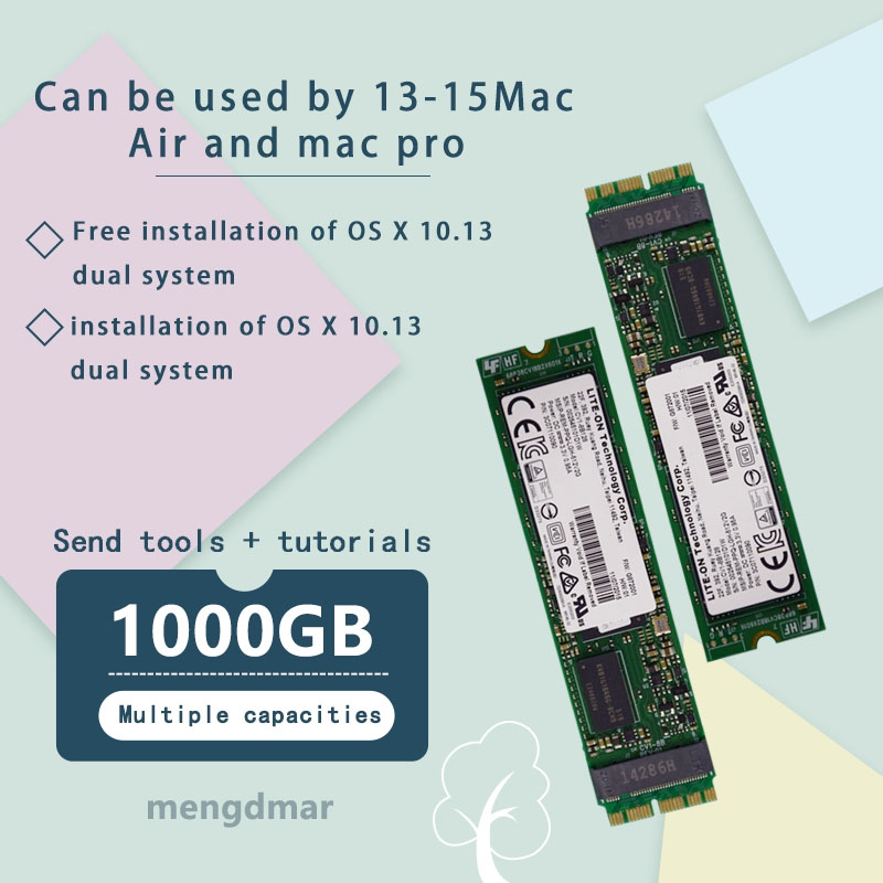 Nuevo 1000GB (1 TB) SSD para Macbook Air 2013, 2014 de 2015 A1465 A1466 imac PRO 2013 de 2014 de 2015 a1425 A1502 A1398mini de disco de estado sólido