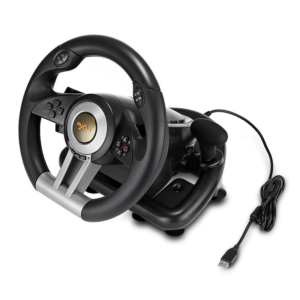 PXN V3II jeu de course Pad 180 degrés volant Vibration manettes avec pédale pliable pour PC PS3 PS4 Xbox One tout-en-un - 5