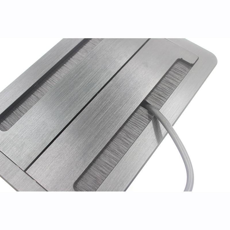 JOHO Desktop Socket Aluminum Black Silver Panel Open Type Table Socket Electrical OutletJOHO Desktop Socket Aluminum Black Silver Panel Open Type Table Socket Electrical Outlet