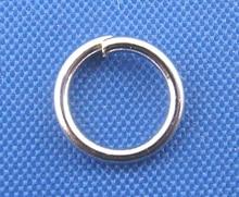 DoreenBeads 500PCs Silver Tone Color Open Jump Rings 7mm Dia. (B00313), yiwu