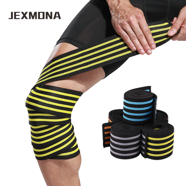 e356a7ac6a 1 PCS Powerlifting Knee Wraps Fitness Weight Lifting joelheira crossfit Knee  Bandages sport tape Training Sleeve
