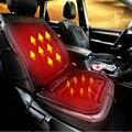 Preto Carro Aquecida Almofada do Assento Tampa Auto 12 V Aquecedor Aquecimento Warmer Pad Inverno ja13