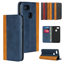 LUCKBUY For Pixel 3 Color Matching Leather Luxury Phone Cases for Google XL 3XL Slim Business Style Book