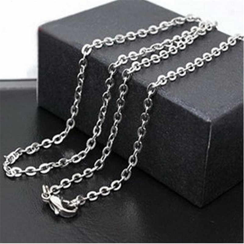 Hurtownie 60cm krzyż łańcuch Link w srebrny złoty kolor O łańcuchy długi naszyjnik mężczyzn biżuteria akcesoria naszyjnikowe