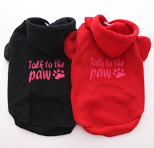 Canine Pet coat Hoodie Sweater Cat pet Jacket Paw Garments 7 sizes three colors