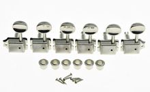KAISH Left Lefty Nickel Vintage Guitar Tuning Keys Tuners Machine Heads for  ST TL