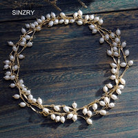 SINZRY jewelry accessory gold color copper alloy rice shape pearl 142cm long necklaces elegant lady party costume jewelry