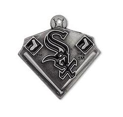 Metal Alloy Enamel Pendant Charms Baseball Chicago White Sox DIY Sport Fans Jewelry Pendant