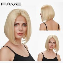 Lace Front Straight BOB #613 Wig Brazilian Human Remy Hair Wigs 8-14 inches Free Part Natural Hairline Free Gift FAVE Hair