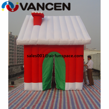 Hot sale inflatable christmas tent 5*3*3m cute inflatable christmas bouncy castle PVC material red jumping house for holiday best selling ce certificate pvc material inflatable boat for sale