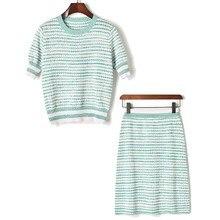 2 piece sweater skirt set women 2019 spring summer short sleeve knitwear tops+slim hip knitting skirt suit clothes stylish short sleeve pink knitwear and floral skirt women s suit