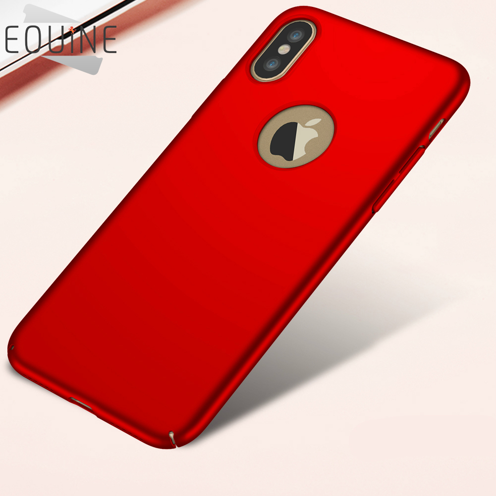 Hard PC Case Luxury Plastic Matte Cases For iPhone X 5 5S SE 6 6S 7 8 Plus Covers For iPhone X Red 360 Full Phone Case Cover