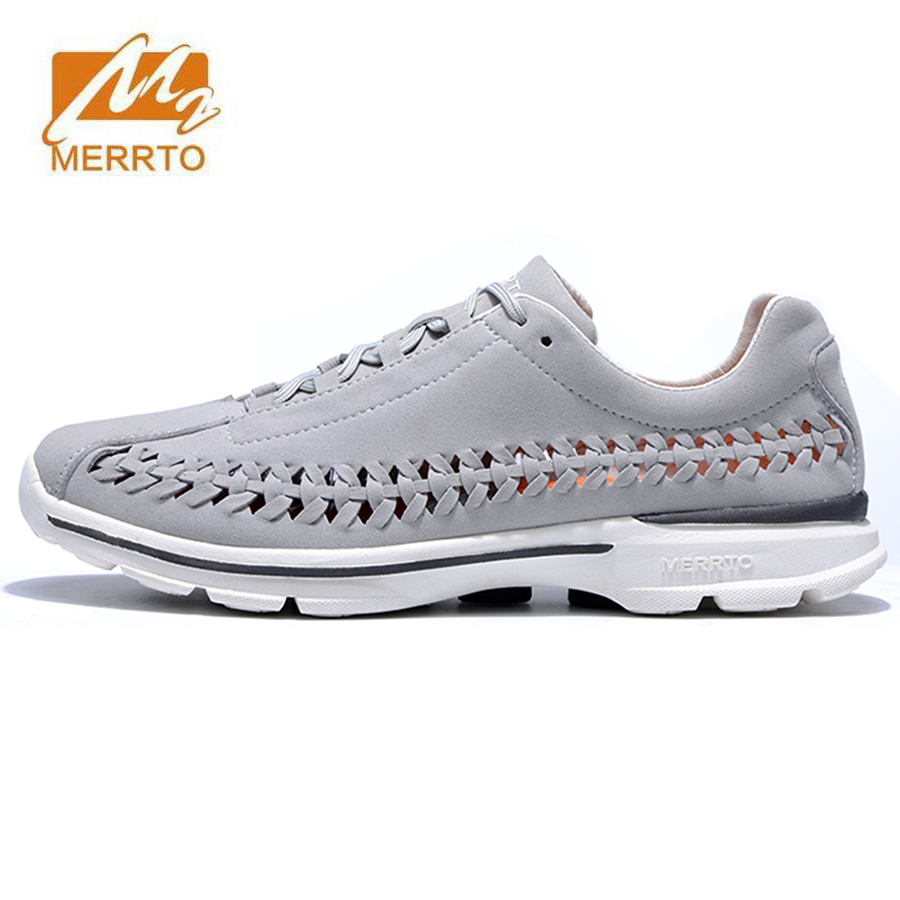 MERRTO Men's Spring And Summer Outdoor Hiking Trekking Sneakers Shoes For Men Sports Climbing Mountain Shoes Man Outventure merrto men s sports leather outdoor hiking trekking shoes sneakers for men wearable climbing mountain shoes man senderismo