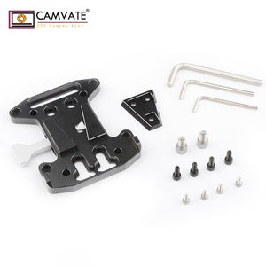 Image 3 - CAMVATE Camera QR Assembly Kit V Lock Quick Release Plate For DSLR/Blackmagic URSA Mini/ DJI Ronin M/MX V Mount Battery Mounting