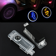 2Pcs Car Welcome Door Light Shadow Lighting For BMW F30 E60 E61 E63 E64 E65 E66 E67