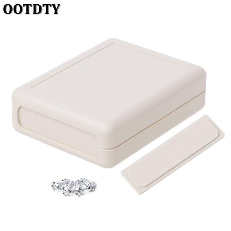 OOTDTY Waterproof Instrument Box Plastic Case Gray Electronic Project DIY 90x70x28mm