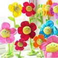 1 PC Plush Curtain Smiley Sunflowers Decorative Flower 32CM Sunflower Transformable Plush Stuffed Toys Curtain Buckle