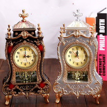 Reloj despertador Vintage de escritorio clásico realeza Sala TV gabinete escritorio muebles imperiales creativo Sit péndulo Retro reloj